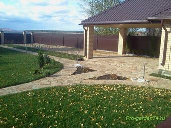 ландшафтный дизайн сада, ландшафтный дизайн садового участка, Челябинск