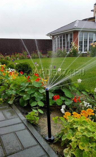 автополив газона и растений,автоматический полив