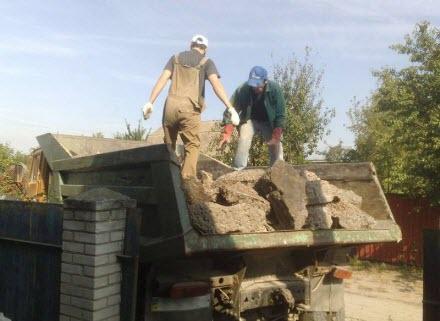 вывоз строительного мусора, уборка строительного мусора