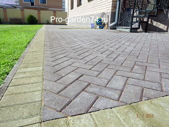 укладка брусчатки бетонный