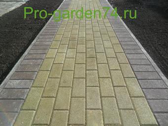 укладка тротуарной плитки 1