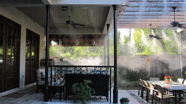 охлаждение воздуха, увлажнение воздуха, пылеподавления системы, установка искусственного тумана