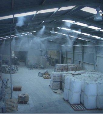 система туманообразования на производсте, пылеподавления системы, установка искусственного тумана