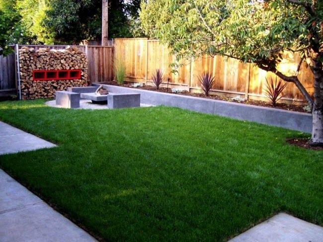 Фото заднего двора